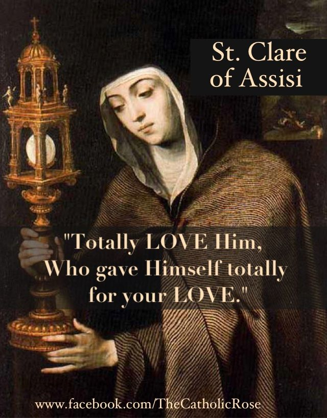 St  Clare of Assisi     | Catholic | Clare of assisi