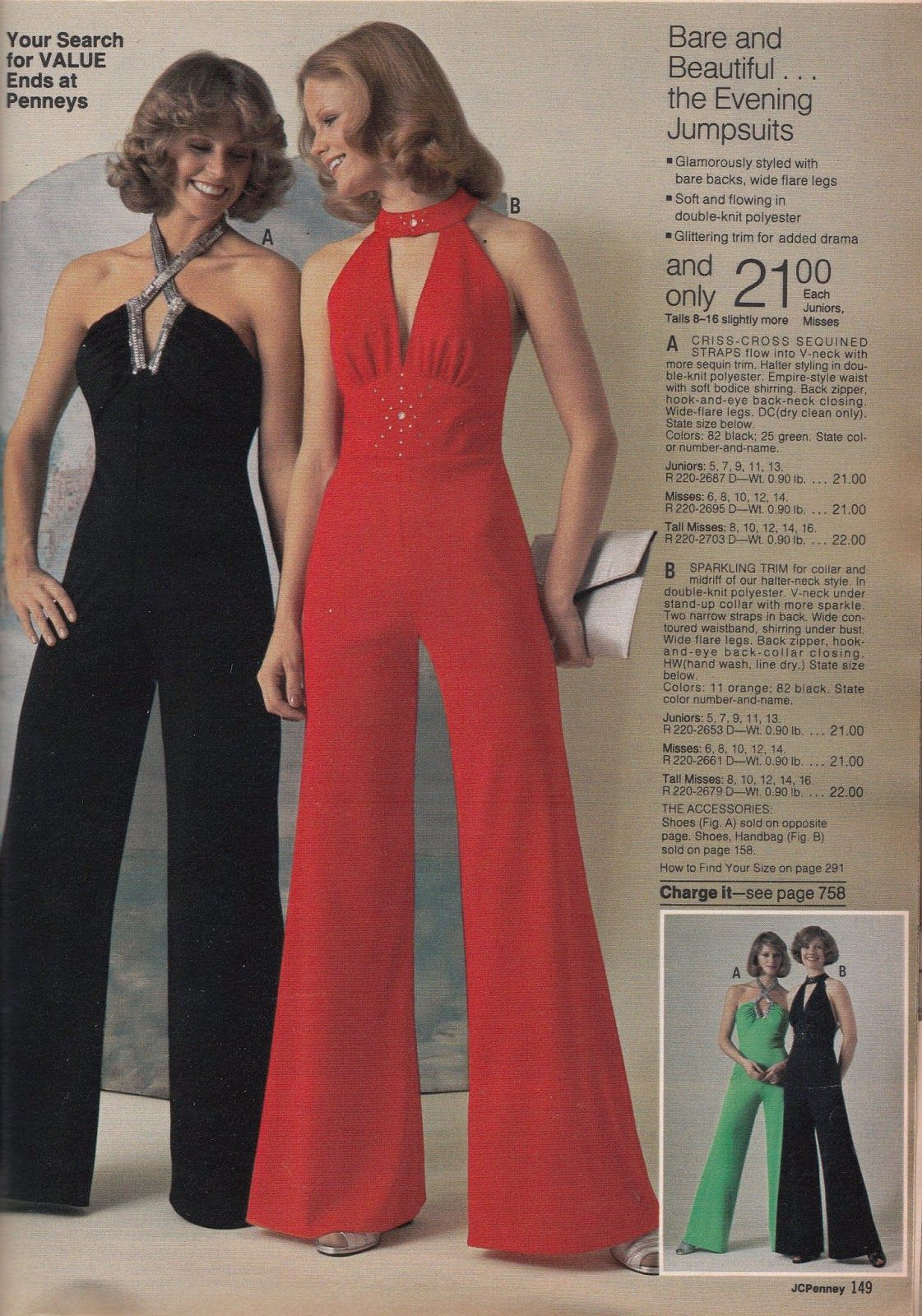 5ae1ba83e9 Jumpsuit - It is a garment that includes pants and a top all in one  connected outfit. It is a unisex garment. It became very popular during the  70s.