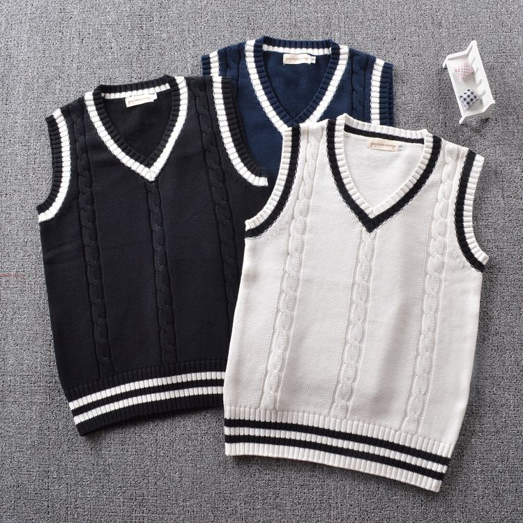 Carters Boys Sweater Vest Navy Accent Grey