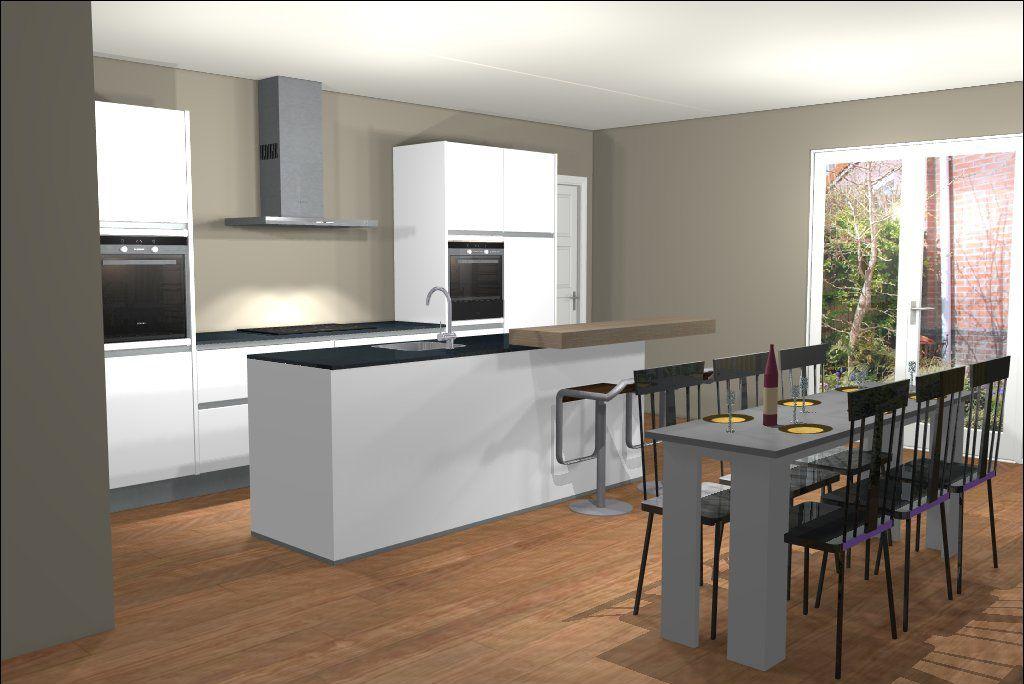 Ontwerp van keuken met kookeiland fab interiors pinterest interiors and kitchens - Keuken kookeiland ontwerp ...