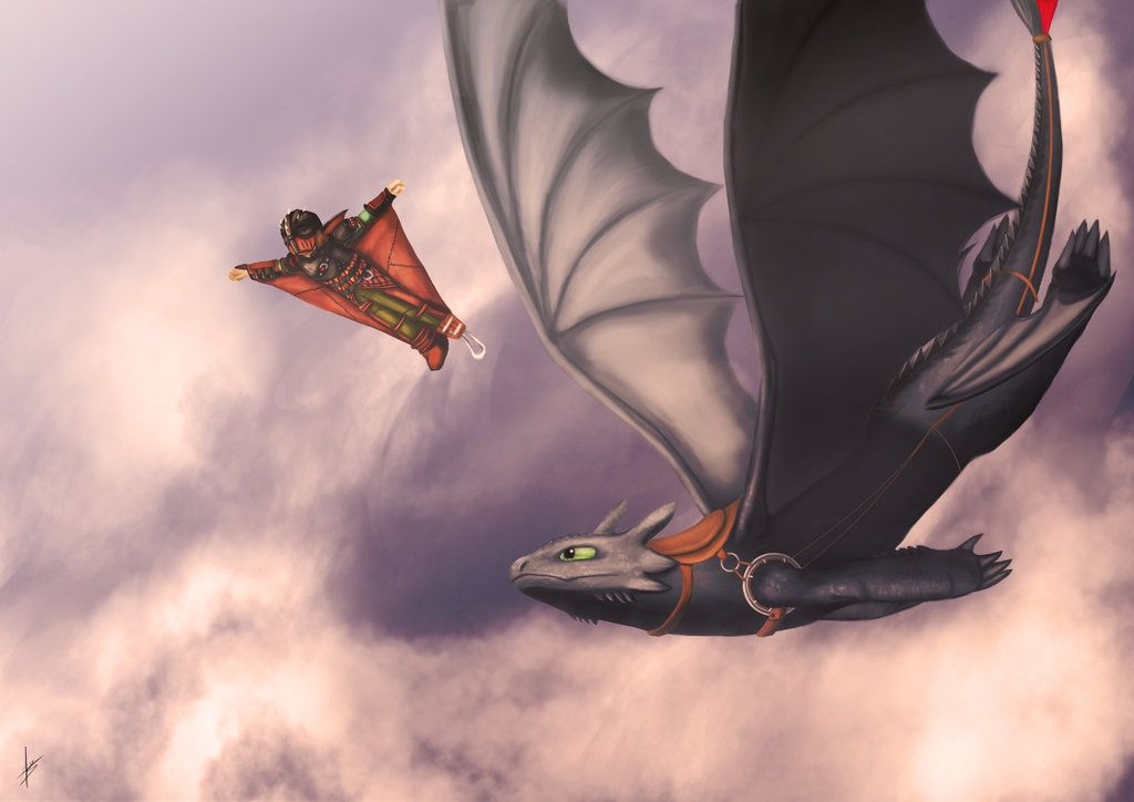 Hiccup and Toothless by kelinor on DeviantArt