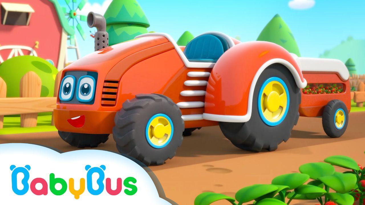 Los Tractores En La Granja Canción Para Niños Educación Infantil Cancion De Granja Babybus Toy Car Monster Trucks Youtube