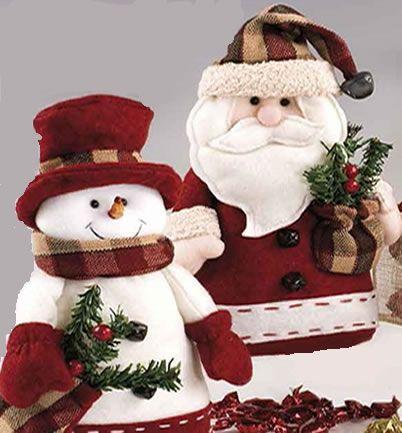 Figura de pap noel y mu eco de nieve para decorar - Papa noel decoracion navidena ...