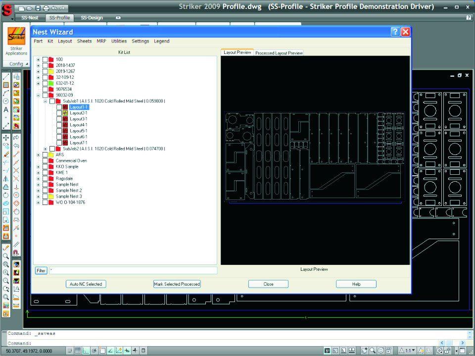 SS-Nest : Sheet Metal Nesting Software   Sheetmetal CAD-CAM