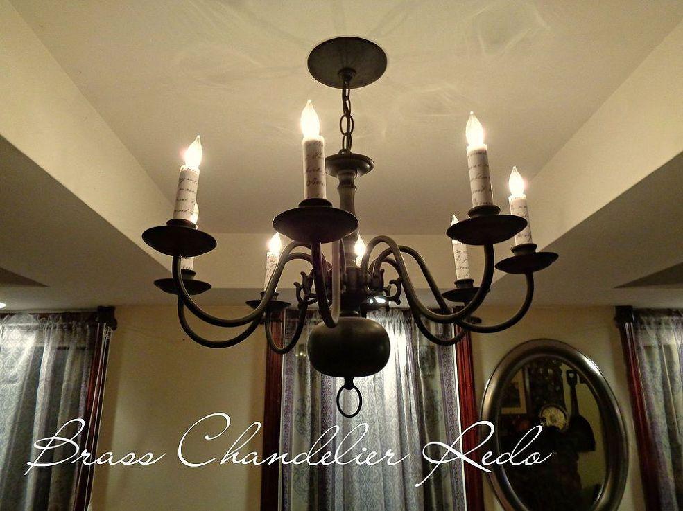 Updated Brass Chandelier