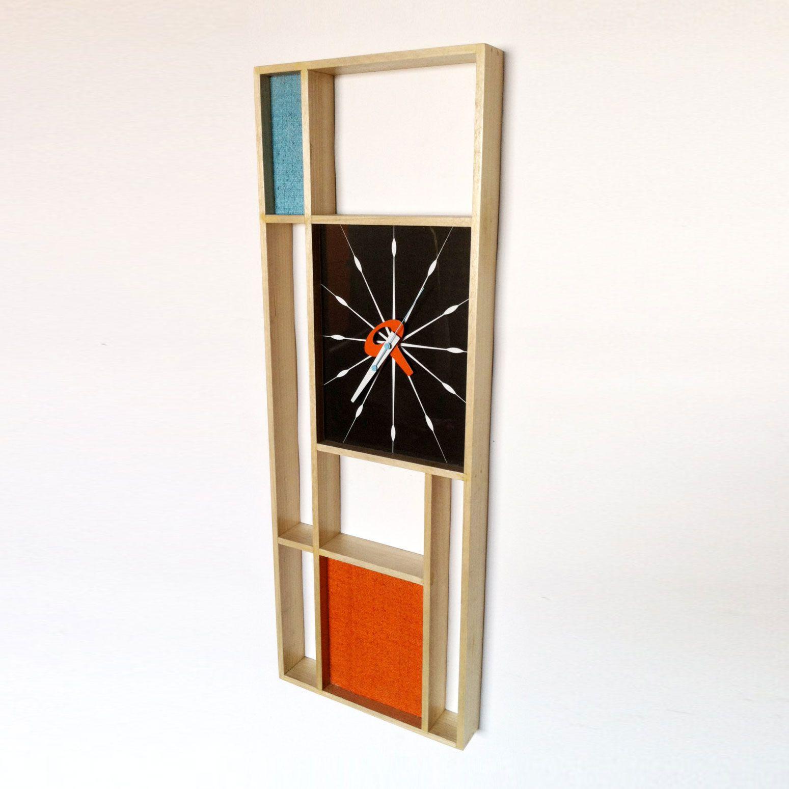 Midcentury art clock dot u bo make and create pinterest mid
