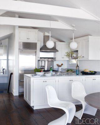 Marble white stainless kitchens armoire maison deco - Modifier armoire melamine ...