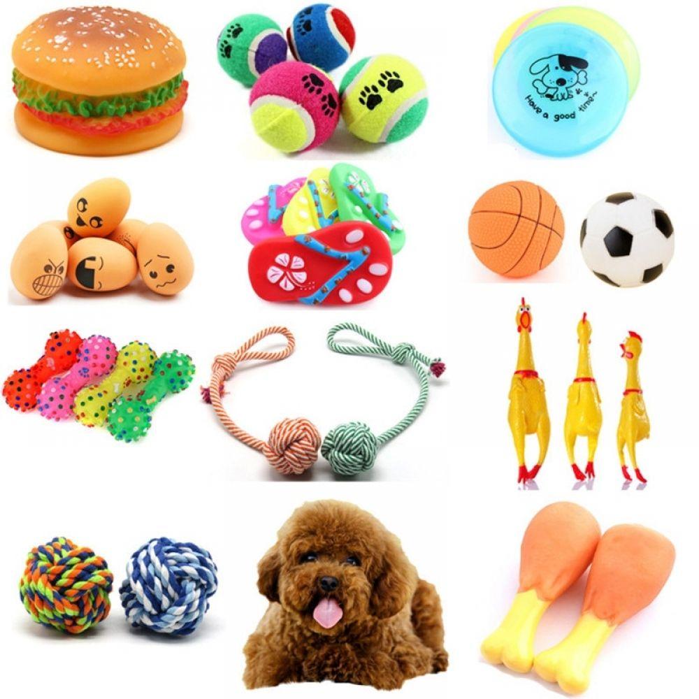 Pet Toy Rubber Squeak Dog Toys Screaming Chicken Chew Bone