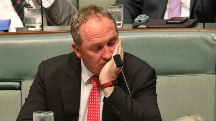 Deputy Prime Minister Barnaby Joyce pictured with wife Natalie. Picture:  Supplied. ""