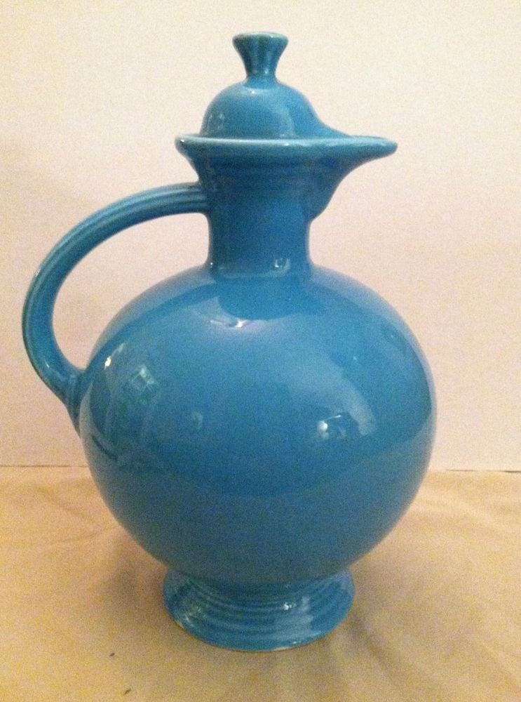HLC Vintage Fiesta Turquoise Carafe EX Free Shipping NR #HLCVintageFiesta