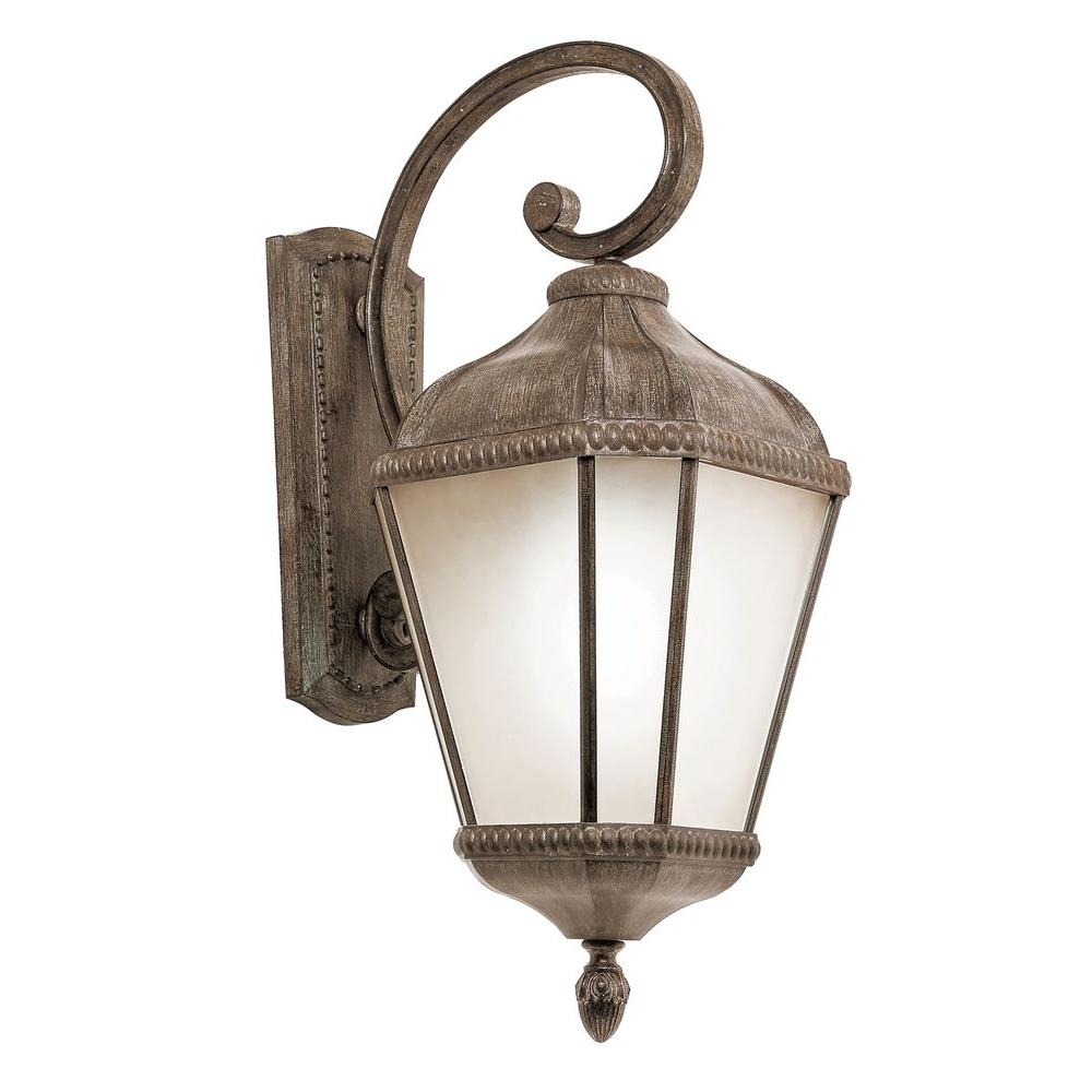 Bel Air Lighting 3 Light Burnished Rust Outdoor