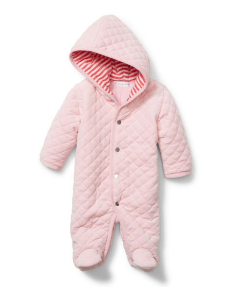 4bf90ab4b Quilted Velour Bunting - Baby Girl Outerwear   Jackets - RalphLauren ...