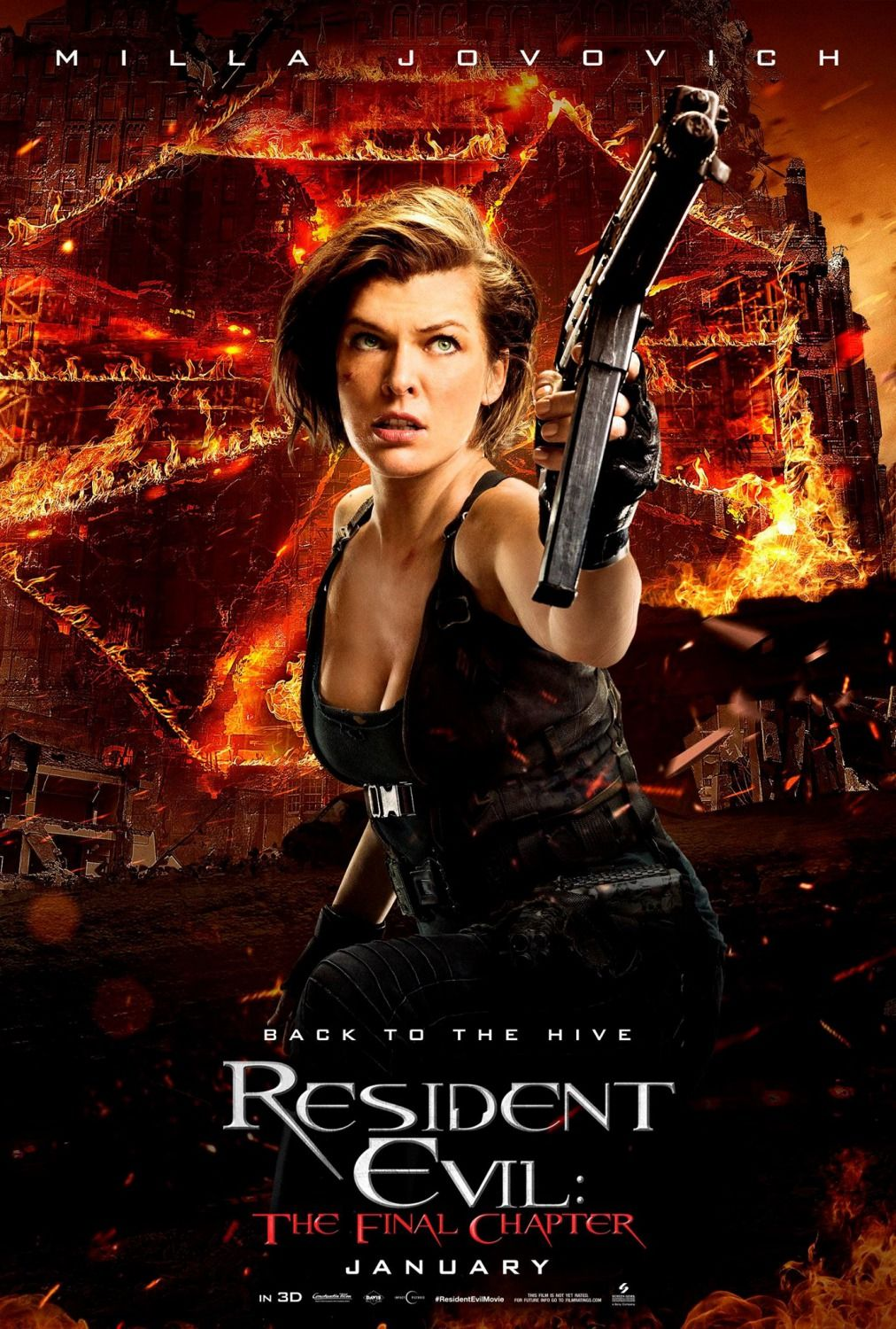 Resident Evil The Final Chapter Milla Jovovich As Alice