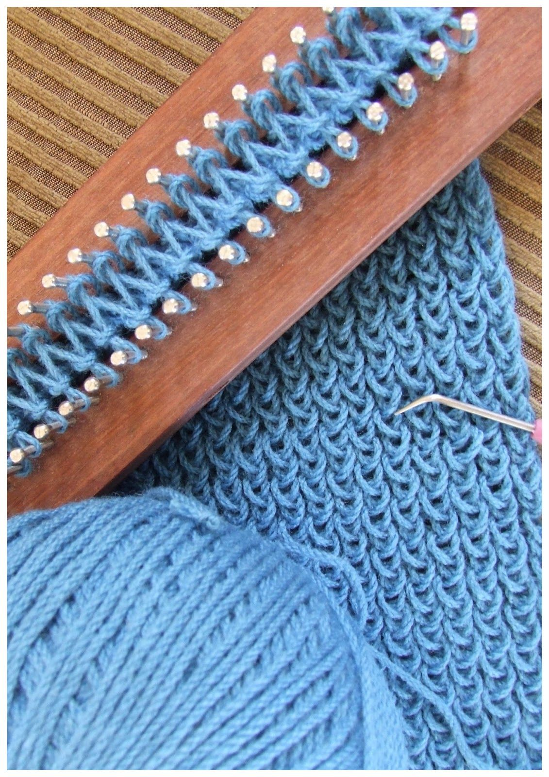 Knitting Loom Scarf : Fitzbirch crafts loom knitting patterns my dad made one