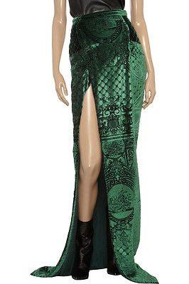 Balmain Velvet Brocade Skirt