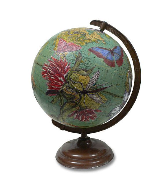 vintage globe art ceres botanical world globe art cabinet curiosit pinterest. Black Bedroom Furniture Sets. Home Design Ideas