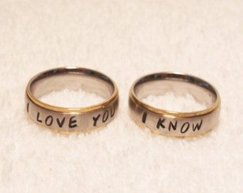 2 Rings  Customized Couples Rings  Matching 6mm by SXpressions