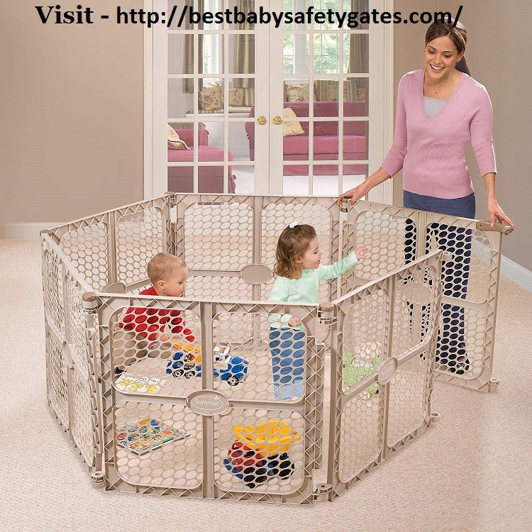 Most Child Safety Gates Are Manufactured Greatly Strong And Whenever Utilized Tenderly Can A Years Ago Whichever Comp With Images Baby Playpen Outdoor Baby Kids Play Yard