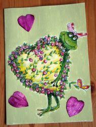 Frosch-Maedchen-mit-Blumen-Herz