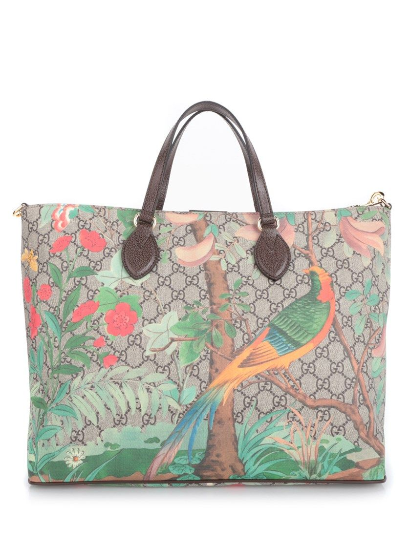 6900927e46f4 GUCCI Tian Gg Supreme Print Tote. #gucci #bags #shoulder bags #hand bags  #leather #tote #