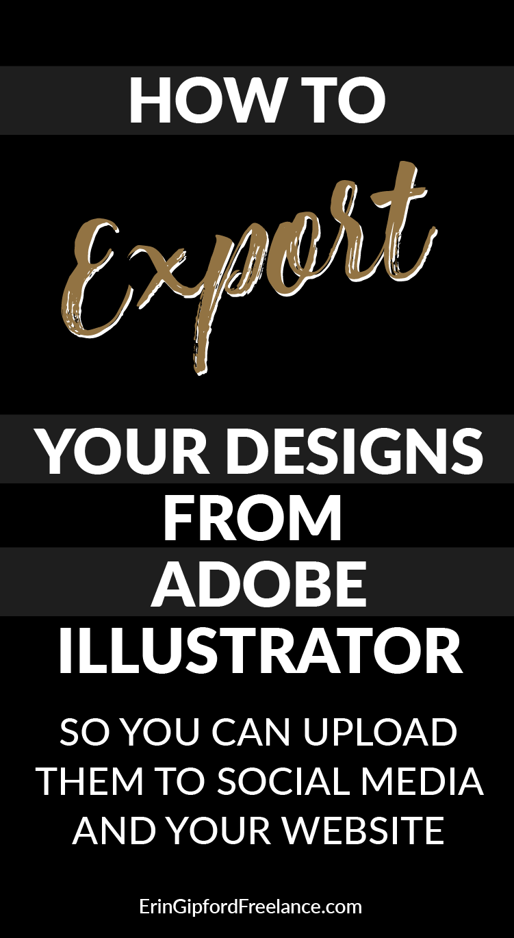 Adobe illustrator tutorial how to export your designs for social adobe illustrator tutorial graphic design tutorial how to export in adobe illustrator baditri Image collections