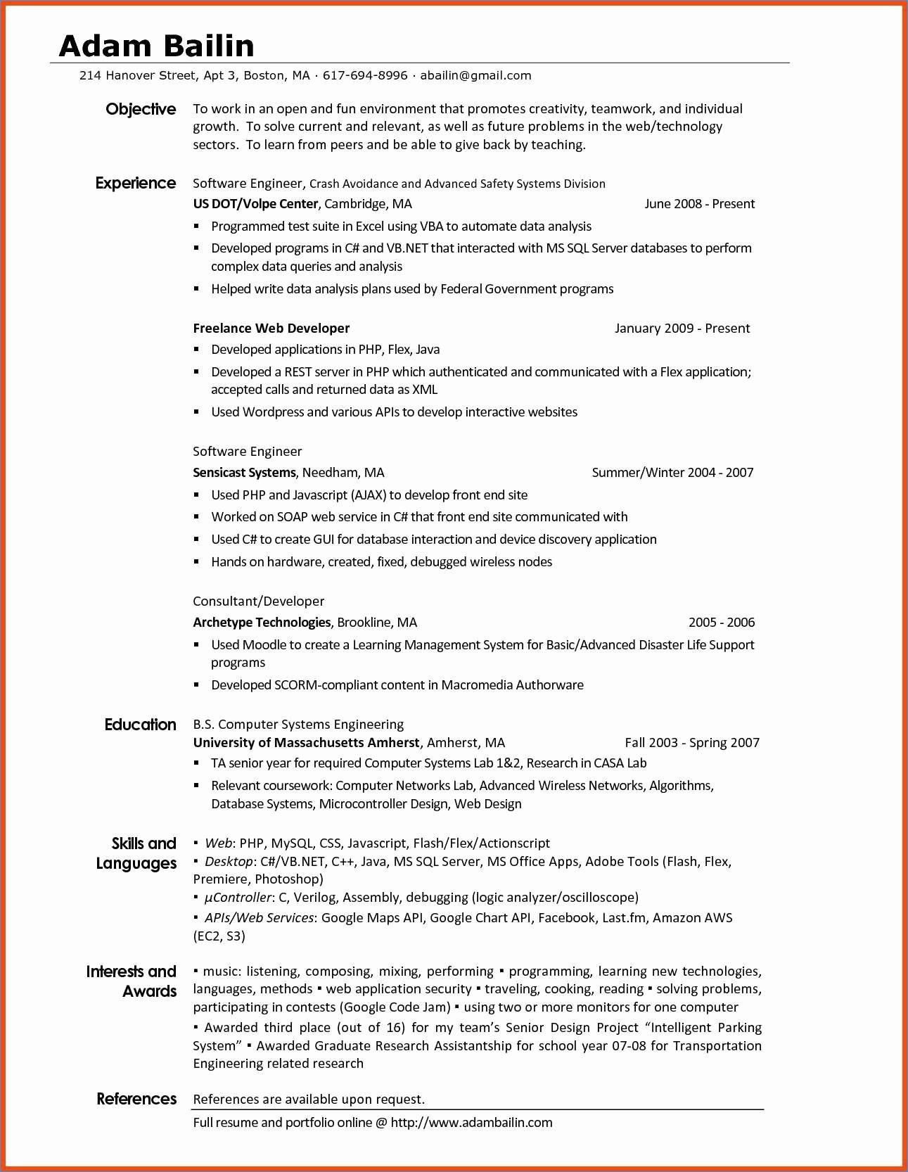 Interests On A Resume New Interests A Resume Resume Examples Resume Template Examples Project Manager Resume