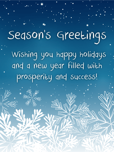 snowing night seasons greetings cards you could wish upon a hundred stars or you could just send this seasons greetings card to wish prosperity and - Seasons Greetings Cards