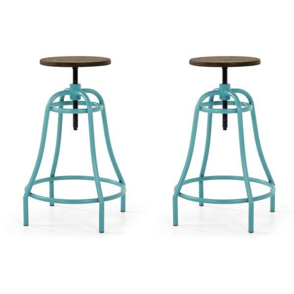 La Forma Malibu Barkruk Turquoise - Set van 2