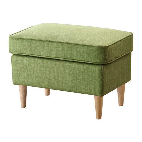 Strandmon Ottoman Skiftebo Yellow Ikea Upholstered Footstool
