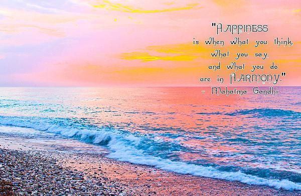 ''Happiness Quote Mahatma Gandhi''...Sunset over Rhodes Island (Dodecanese, Greece)  Photographed by Julia Apostolova