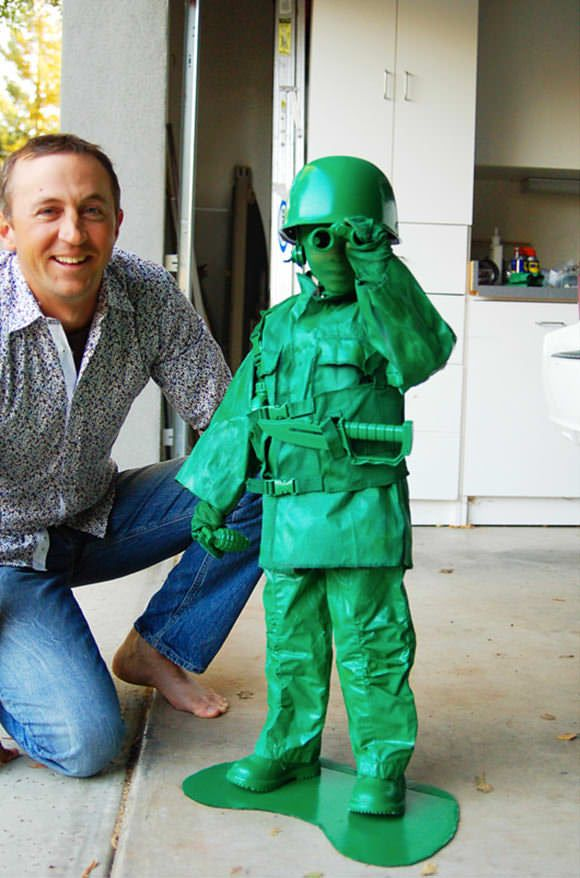 i still think green army man is a brilliant costume idea green army man childs home made costume - Home Made Halloween Costumes For Men