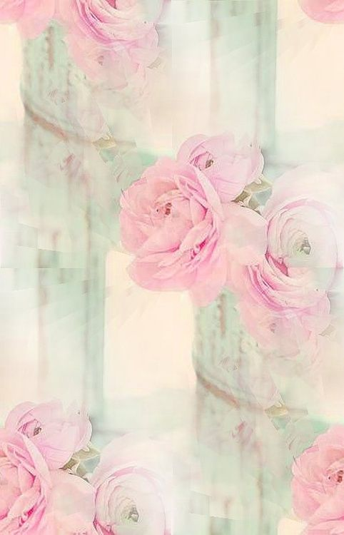 Shabby Chic Wallpaper Iphone Pastel Floral Wallpapers