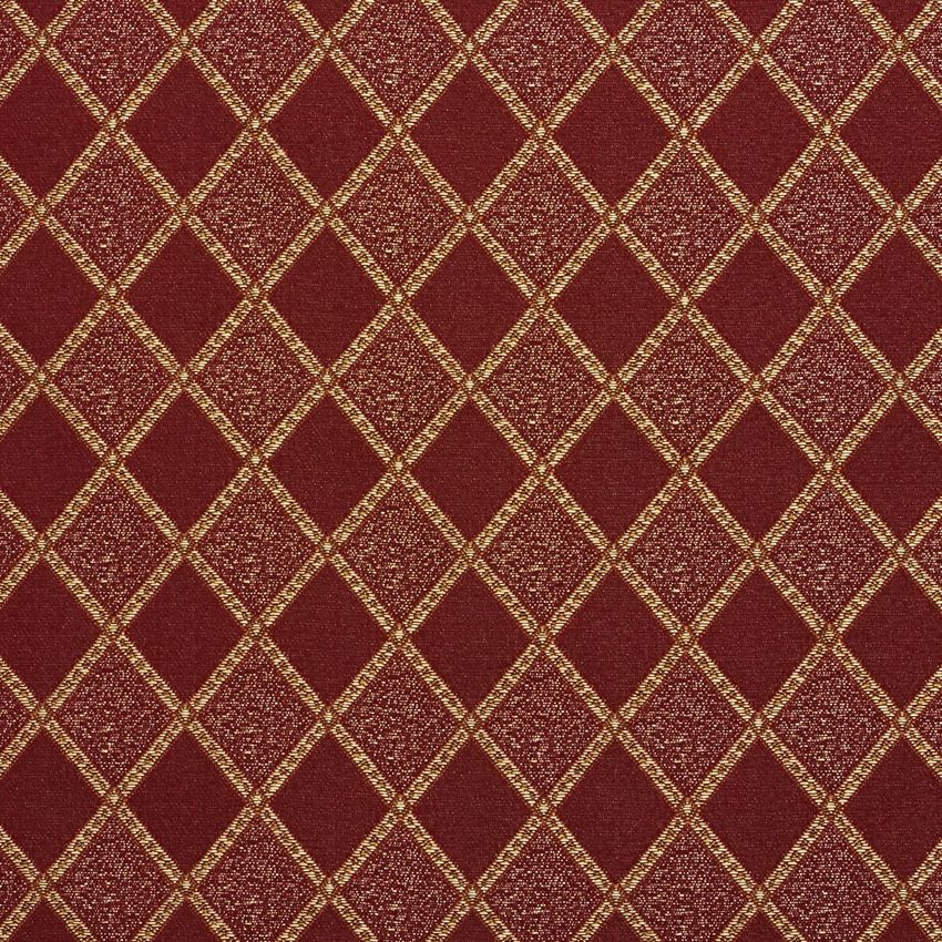 The K7689 WINE DIAMOND upholstery fabric by KOVI Fabrics features Abstract or Geometric, Small Scale pattern and Beige or Tan or Taupe, Burgundy or Red or Rust, Gold or Yellow as its colors. It is a Damask or Jacquard type of upholstery fabric and it is made of 100% Woven polyester material. It is rated Exceeds 24,000 Double Rubs (Heavy Duty) which makes this upholstery fabric ideal for residential, commercial and hospitality upholstery projects. This upholstery fabric is 54 Inches inches…