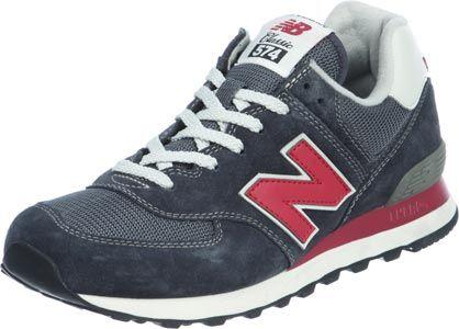 New Balance 574 Grau Rot Blau