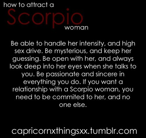 How to attract a scorpio women