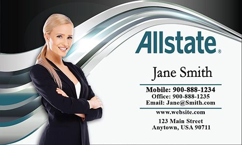 Allstate Insurance Agent Business Card Free Template From Www