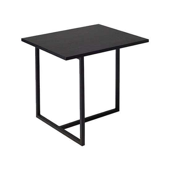 Felicity Rectangular Side Table Black Ash Matt Black Black Side Table Modern Side Table Side Table