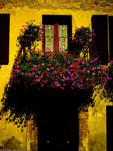 Doorway, Pienza, Tuscany, September 2006 by Conlawprof, via Flickr