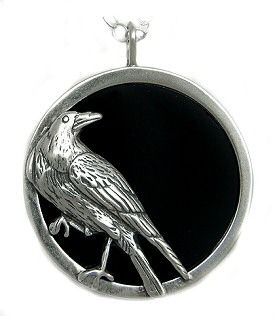 Scrying pendant sterling silver raven with black onyx 8400 scrying pendant sterling silver raven with black onyx 8400 aloadofball Image collections