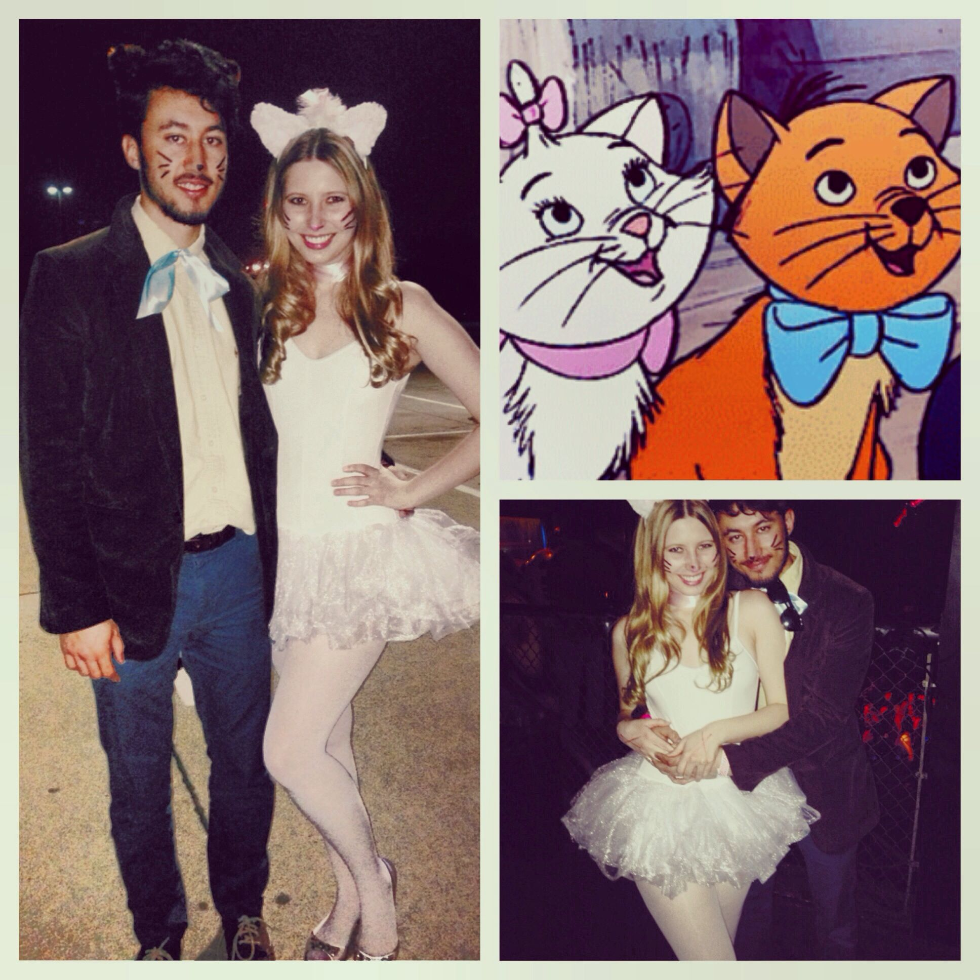 Halloween Toulouse.Aristocats Marie And Toulouse Couple S Cat Costume For A Disney Themed Mixer Via Instagram Pey Couple Halloween Costumes Disney Homecoming Couple Halloween