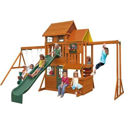 Backyard Playset Reviews big backyard barrington swing set & reviews | wayfair | play sets