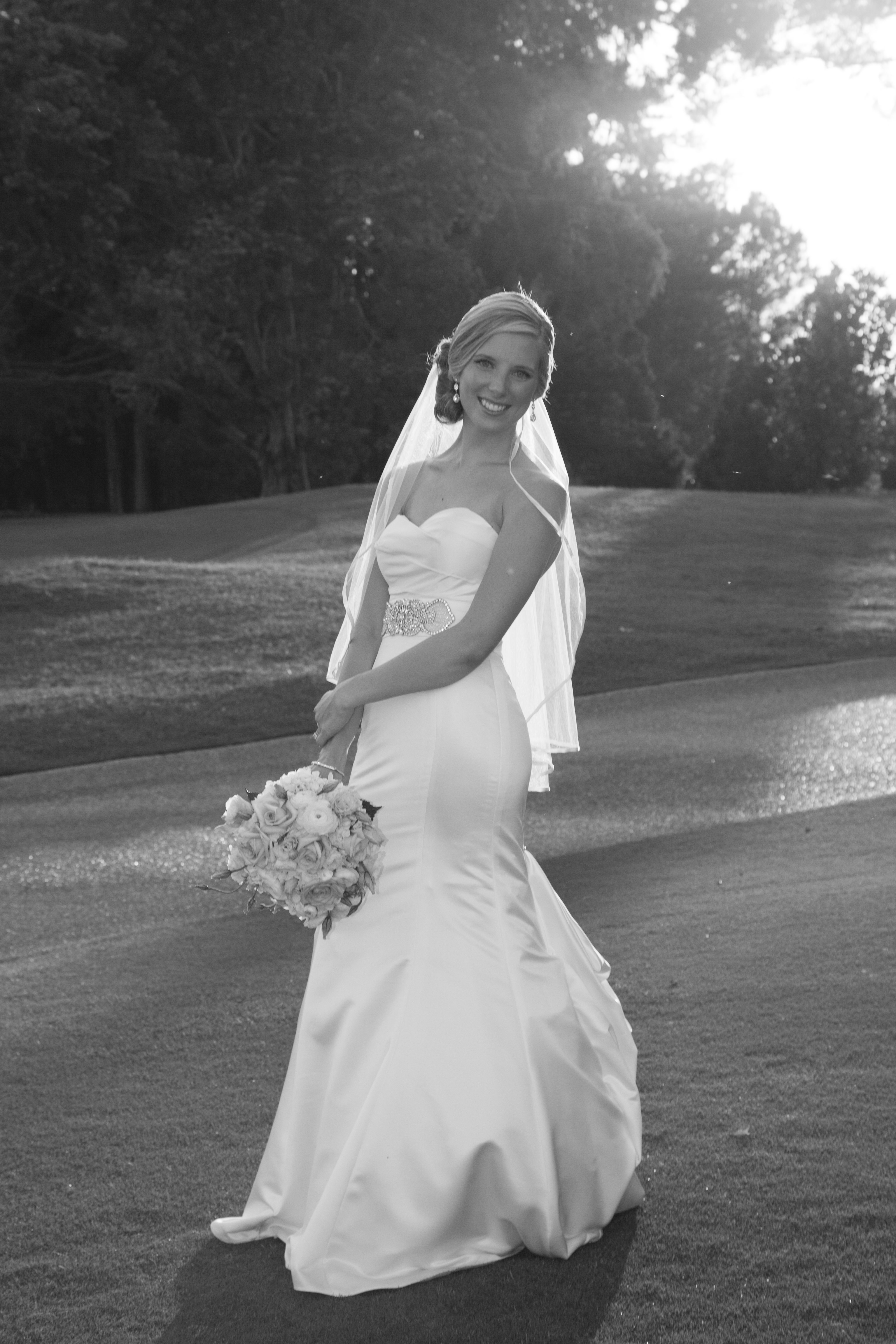 Seams Bride Katie Wore A Wedding Gown On Her Big Day Custom Altered By Claudia Of Alterations Photograph Courtesy