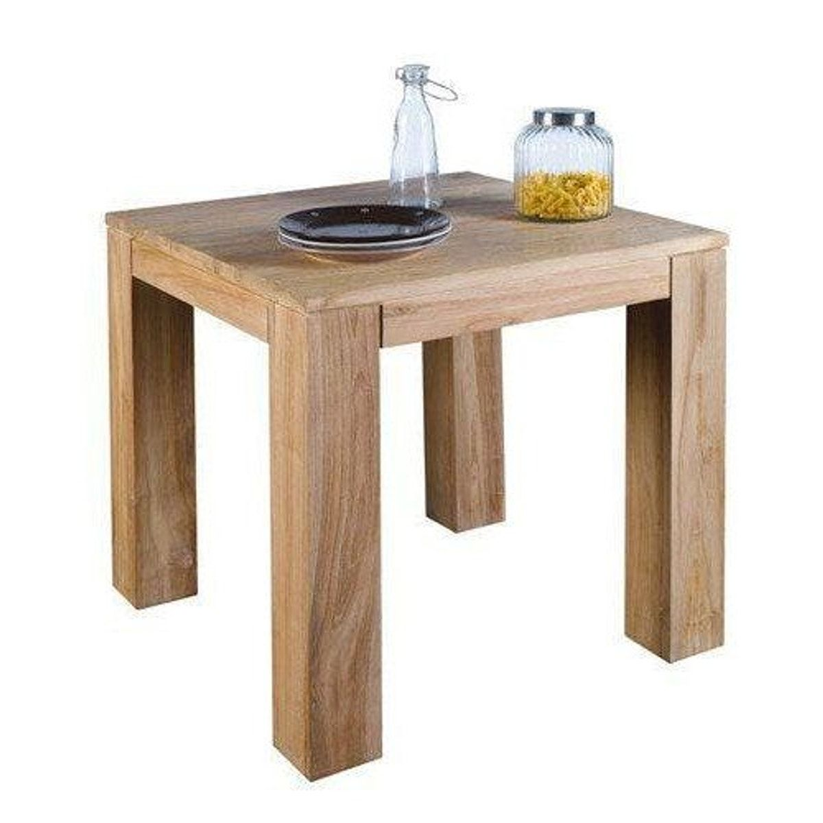 Table Carree En Teck 80cm Rio Taille 6 Pers Table Salle A Manger Tables A Manger Carrees