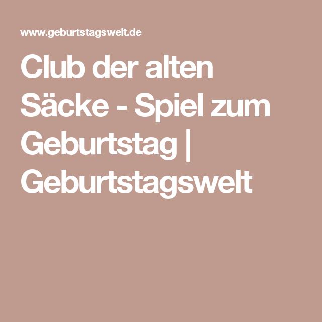 Club Der Alten Säcke   Spiel Zum Geburtstag