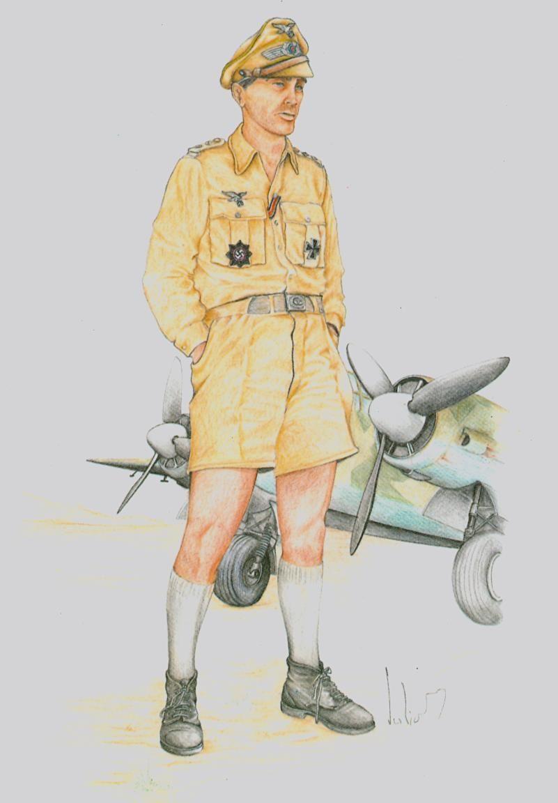 LUFTWAFFE - Fliergertruppe - Hauptman Mediterranée - 1943