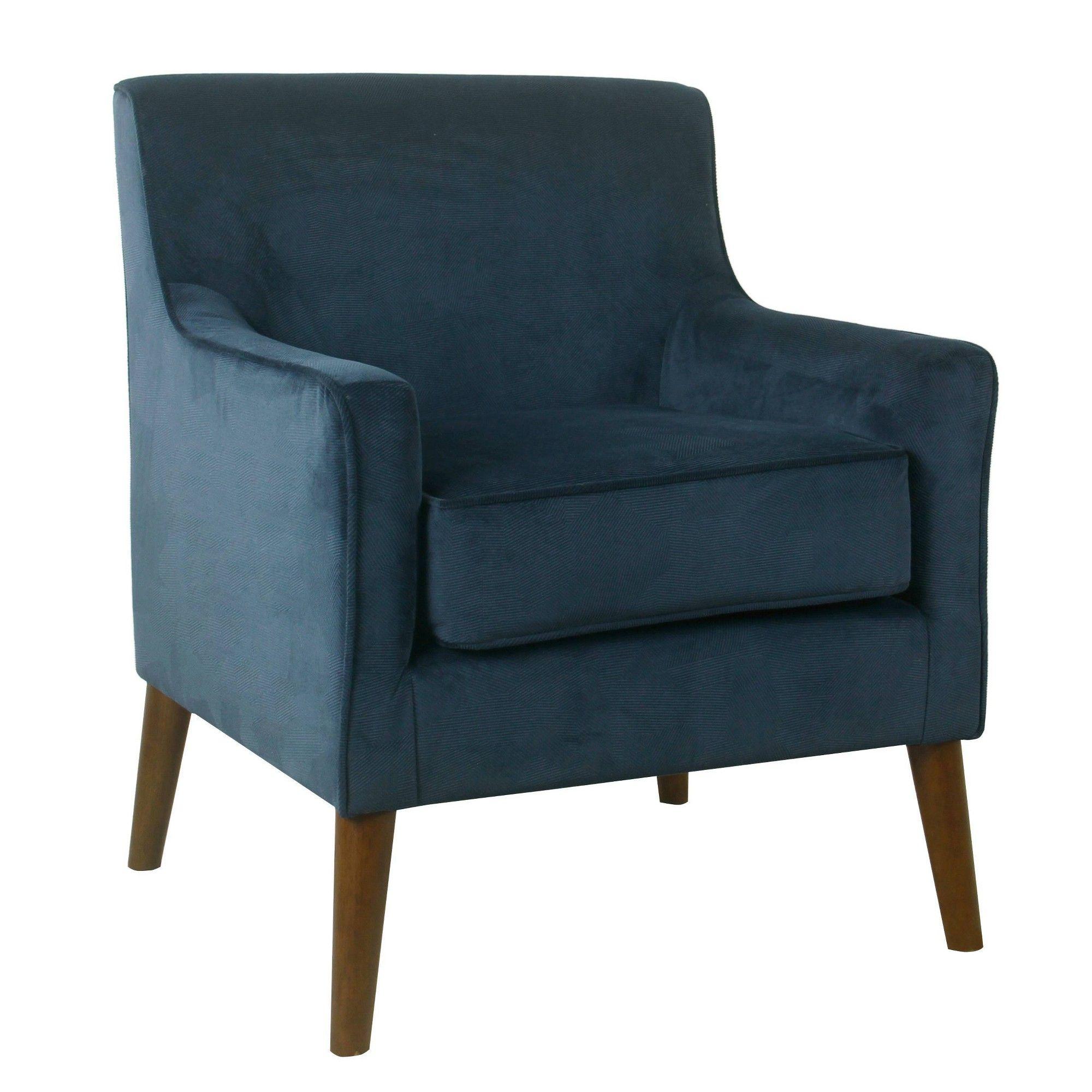 Best Davis Mid Century Accent Chair Navy Velvet Homepop 400 x 300