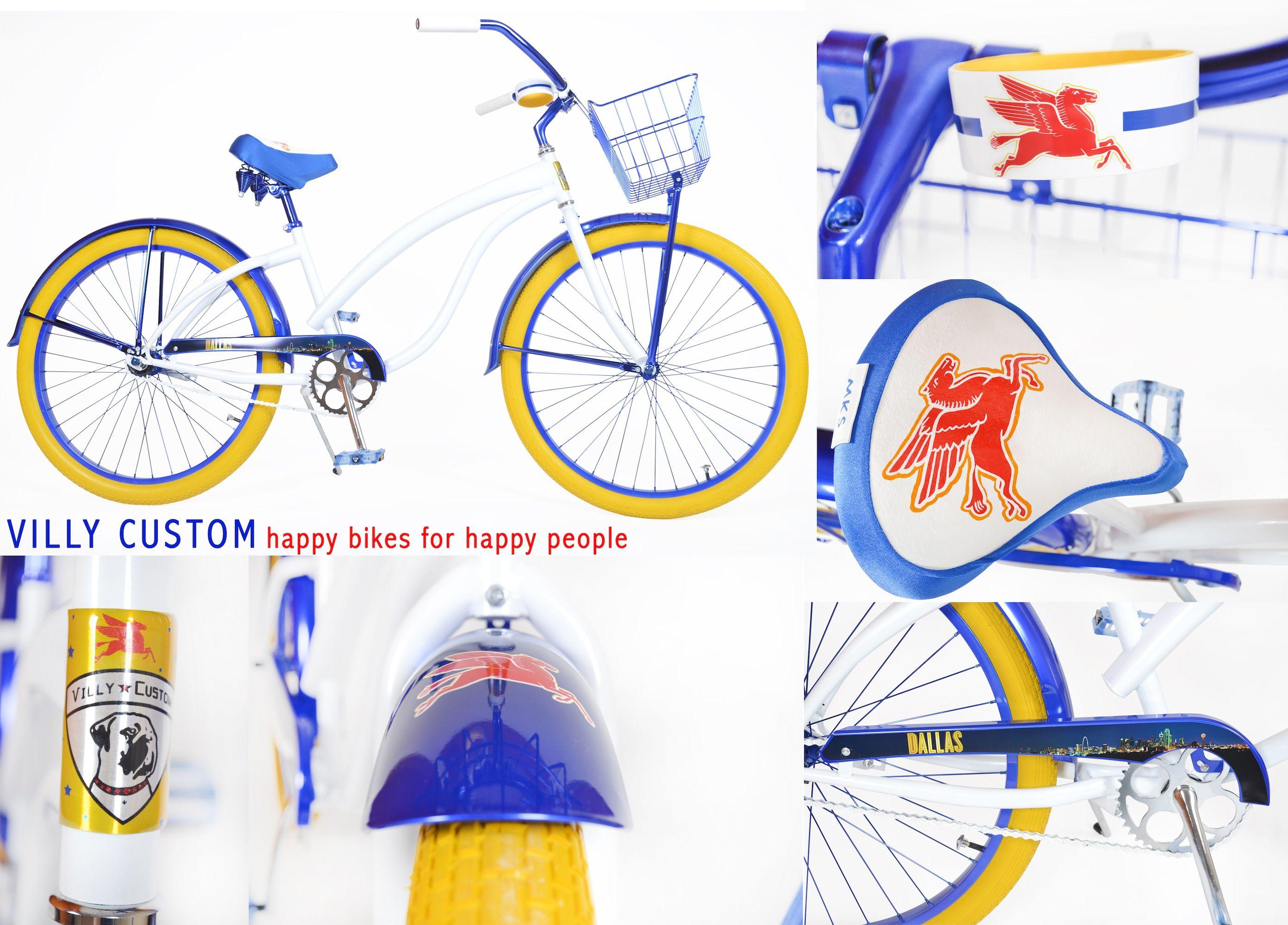 Custom Dallas, TX beach cruiser bicycle by Villy Customs!  www.villycustoms.com
