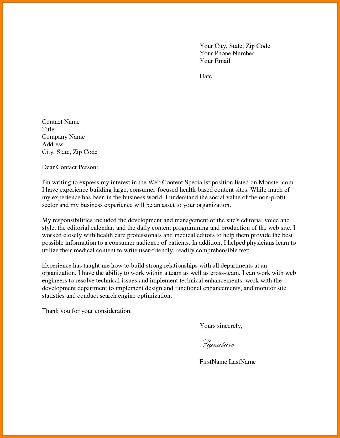 Physician Assistant Personal Statement Example Case Cover Letter