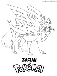 Pokemon Sword And Shield Coloring Pages Coloring Pages