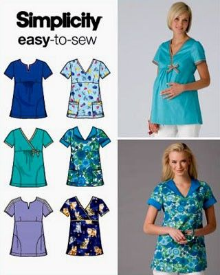 PLUS SIZE SCRUB TOPS Sewing Pattern Maternity by ...